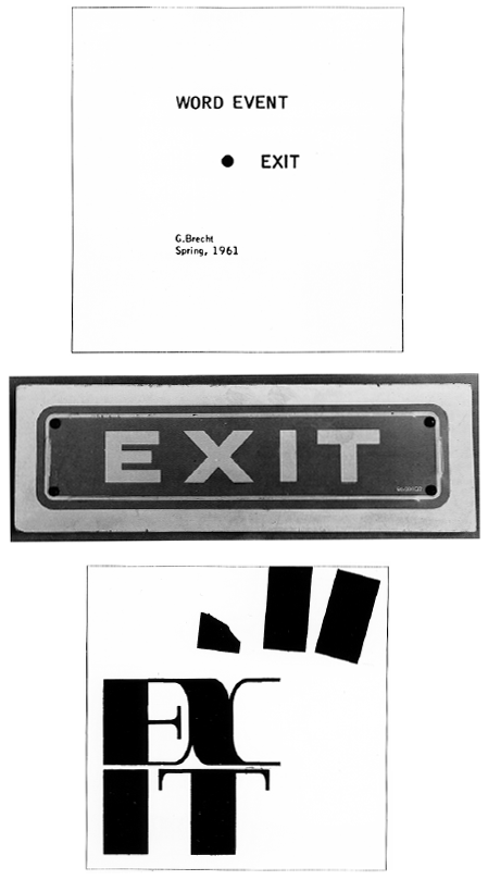 George Brecht: Word Event Exit 1961